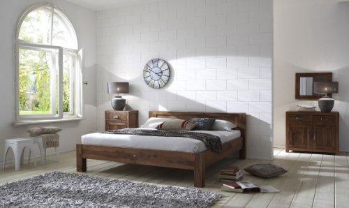 SAM Palisander Massiv Holzbett 140x200 cm Wales Naturfarben Sheesham, Bett aus massivem Rosenholz gefertig