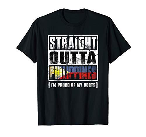 Straight Outta Philippines t-shirt ~ Flag ~ Filipino Roots T-Shirt
