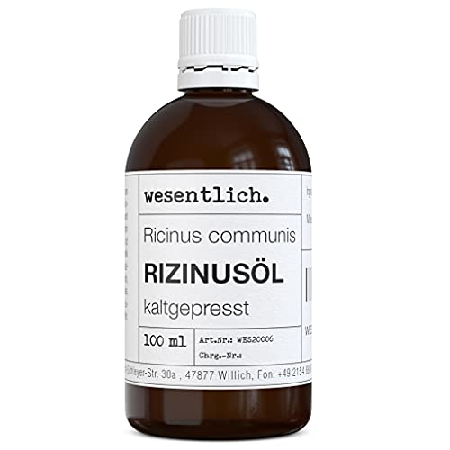 Rizinusöl kaltgepresst 100ml - 100{87f8178d683560066fa41113676f8e934a1c4665ee1414f42591ce8a5c62725b} reines Rizinusöl (Ricinus communis) von wesentlich.
