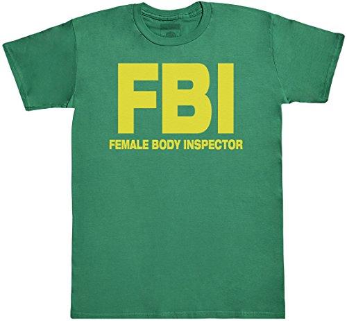 FBI - Female Body Inspector Herren T-Shirt - Herren T-Shirt Geschenk - Grün, Medium