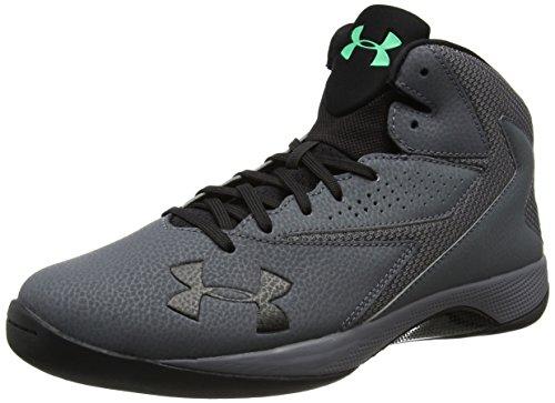 Under Armour Men's Lockdown Basketball Shoe, Rhino Gray (076)/Black, 8.5