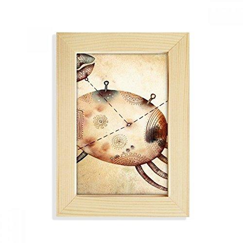 DIYthinker juni juli Kanker sterrenbeeld Zodiac Desktop Houten fotolijst Picture Art Schilderen 5X7 Inch