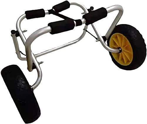 WXFCAS Carrito de kajak Plegable, Barco de aleación de Aluminio de Kayak de Canoa de Rueda, Portador de Canoa de la Carretilla, Capacidad de Carga de 75 kg 2 Ruedas adecuadas para Kayak y canoas