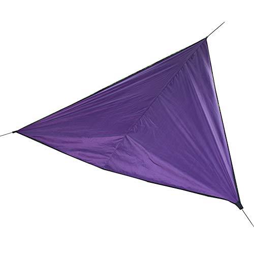 HotYou Sonnensegel Cappuccino Dreieckig Sonnenschutz Sichtschutz Windschutz Tarp UV Schutz Garten Terrasse Camping Schattenspender,Dunkelviolett,4 * 4 * 4 M