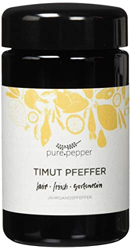 Pure Pepper - Timut Pfeffer - 40g - Szechuan-Pfeffer aus Nepal - sortenrein handgepflückt - Jahrgangspfeffer in bester Qualität | Glas