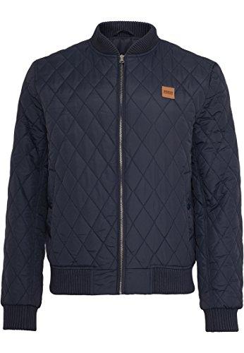 Urban Classics Diamond Quilt Nylon Jacket, Noir (7), XL Homme