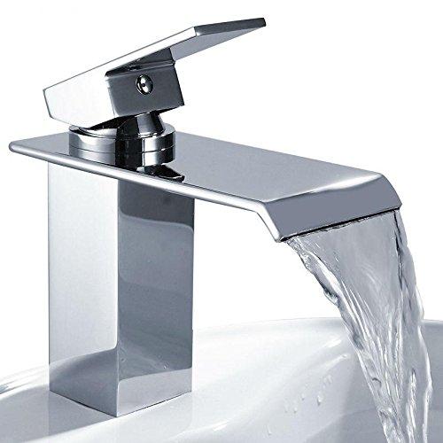 ZGB Bar Spüle Armaturen Bassin Wasserhahn Wasserfall Wasserhahn einzigen Handgriff Becken Hot und kalten Mixer Hahn Badezimmer Wasserhahn Sink Chrome Finish