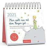 Man sieht nur mit dem Herzen gut - Kalender 2021 - arsEdition-Verlag - Wochenkalender - Postkartenkalender mit wunderschönen Illustrationen und Zitaten - 16,8 cm x 16,8 cm
