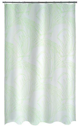 Spirella 10.18487 Textil Palma METALLIC-Green, 180X200 cm Duschvorhang, Polyester, 180 x 200 cm