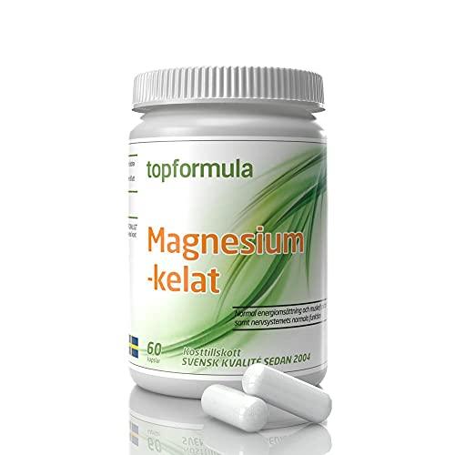 Magnesiumkelat | Magnesiumbisglycinat | Magnesium | Magnesium kapslar | Magnesium tillskott | Magnesium kelat | Svensktillverkat av Topformula