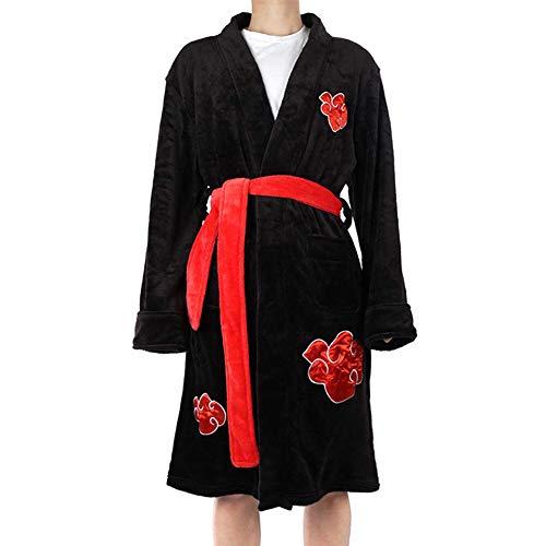 Yuanou Naruto Cosplay Kleidung Nightgown Xiao Organisation Kleidung Uchiha Bademantel (L/XL)