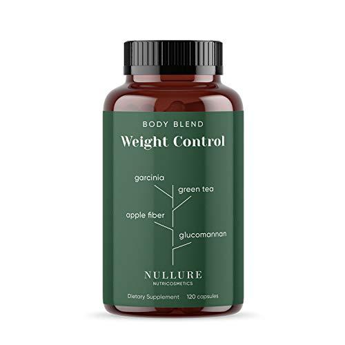 Natuurlijk Vetverbrander voor Gewichtsverlies Nullure | Afvallen Eetlustremmer - Garcinia Cambogia + Groene Thee + Bromelanine + Glucomannaan + Appelvezel + Cichorei + Fucus + Chroom - 120 capsules