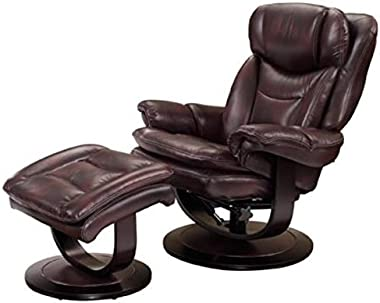 Barcalounger Roscoe 15-8039 Pedestal Chair and Ottoman - Plymouth Mahogany 3605-87