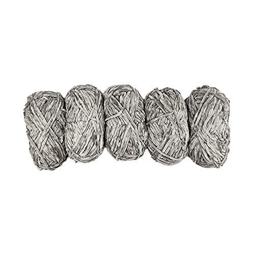 TRICOT CAFE' Chenilla Teddy - Paquete de 5 unidades para tejer a agujas 7-8, fabricado en Italia,...