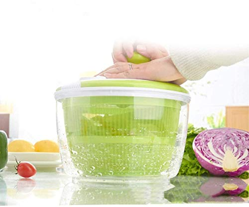 5 Liter Salad Spinner Kitchen Fruits and Vegetable Washer (5 Liter Green & White)