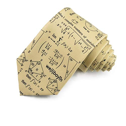 Hombres De Corbata De Poliéster Impreso/Patrón De Dibujos Animados Ciencia Elemento De Corbata/Camisa Corbata (Amarillo, 146 * 8 * 3.8cm)