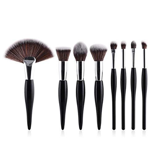 LXP Make Up Brushes Beauty Makeup Tool Brush Set Foundation Powder Blush Cosmetics Ombre à paupières Blending Lip Brosse à Sourcils, 8pcs Noir