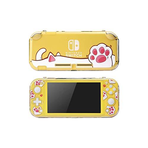 YYDYQR Switch Lite Funda para Nintendo Switch Lite Funda Protectora Accesorios de Piel - Bonita Funda Dividida Funda rígida para PC - Carcasa con antiarañazos - Pink Cat Paw