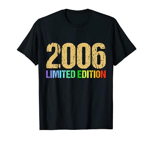 15 Anni Compleanno Ragazzo Uomo Donna Regalo Anno 2006 Maglietta