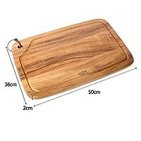 まな板の木、深いジュースグルーブオーガニックアカシアが付いている台所のための木製のまな板、肉および野菜のための肉屋のブロック,C