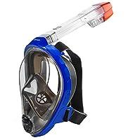 HEAD Sea Vu Dry Full Face Snorkeling Mask, Small/Medium, Blue