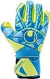 uhlsport Control ABSOLUTGRIP Finger SURROUN Guantes de Portero, Juventud Unisex, Radar Blue/Fluo Yellow/Black, 7