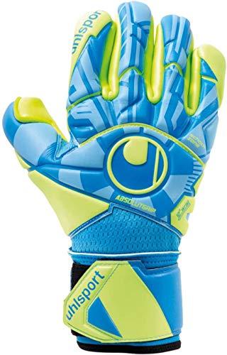 uhlsport Unisex– Erwachsene Control ABSOLUTGRIP Finger SURROUN Torwarthandschuhe, Fußballhandschuhe, Radar blau/Fluo gelb/schw, 7.5
