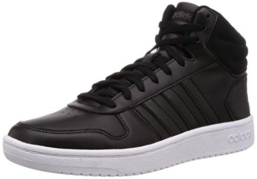 adidas Damen Hoops 2.0 Mid Fitnessschuhe, Schwarz (Negbás/Negbás/Carbon 000), 41 1/3 EU