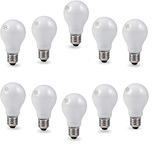 AcornSolution Glühbirne, birnenförmig, A55 Glühlampen, Glühlampen, warmweiß (60W, A55-E27 gefrostet-60W-10PACK)