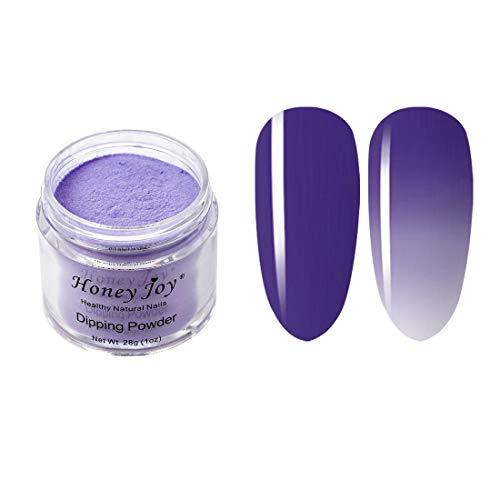 28g/Box Purple and White Temperature Color Change Dip Powder Nails Dipping Nails Long-lasting Nails No UV Light Needed, (No.3)