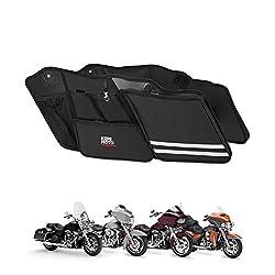 3 Keys Hard Saddlebag Saddle Bag Lock Set for Harley Davidson Touring Electra Glide+Road Glide+Street Glide+Road King 2014-2018 Red