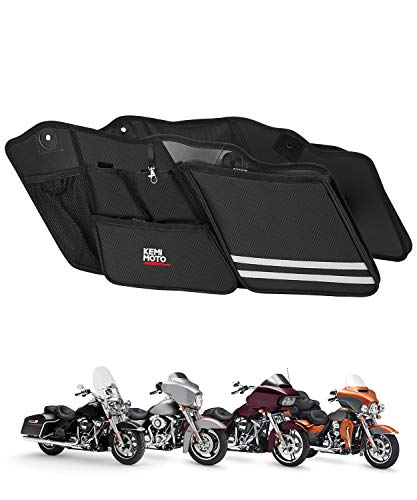 Street Glide Saddlebag Organizers, 2 Pack for 2014-2018 2019 2020 Road King Road Glide Electra Glide Saddle Bag Organizers