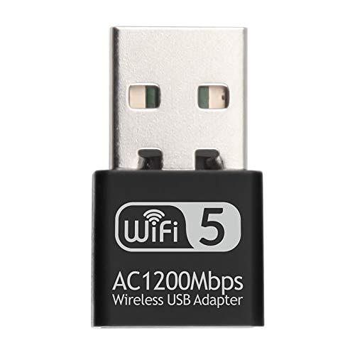 Festnight 2.4G 5G AC1200Mbps Tarjeta de red inalámbrica Adaptador USB Receptor WIFI de banda dual RTL8812