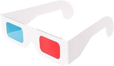 772147962d Gafas 3D Gafas 3D Anaglíficas 3D del Marco Blanco Universal Rojo para El  Juego De Películas