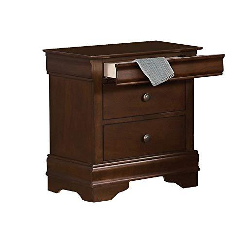 Benjara Benzara Wooden Nightstand with Hidden Drawer, Brown,