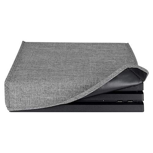 eXtremeRate Housse de Protection Anti-poussière Étanche pour Playstation 4 pour PS4 Pro Console Design Personnalisé-Gris