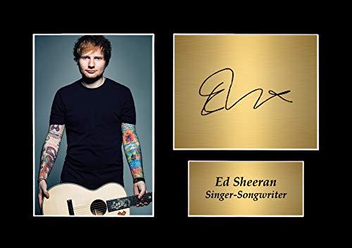 The Signature Shop Autogrammdruck, signiert, Ed Sheeran, Passepartout, A4