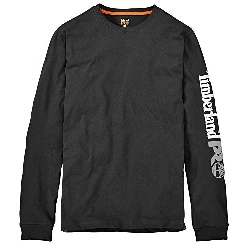 Timberland PRO Men's A1HRV Base Plate Long Sleeve T-Shirt with Logo - XXX-Large - Jet Black