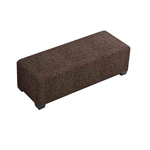 BYCSD hoekbank Ottomana linnen stof van katoen bekleed zitbank bank voor huis eenvoudig moderne kruk lang voetenbank