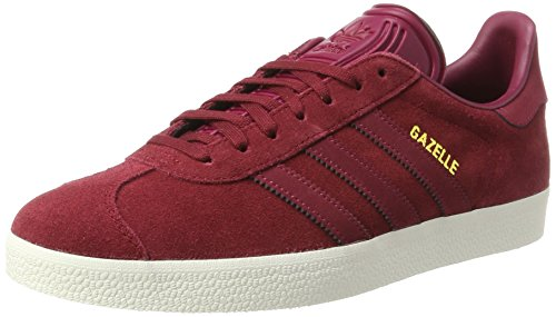 adidas Gazelle, Sneakers Basses Femme, Noir (Collegiate Burgundy/Mystery Ruby F17/gold Met.), 39 1/3 EU