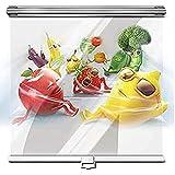 Jcnfa- Cortinas enrollables claras,persiana Vertical de PVC a Prueba de Polvo,0,15 mm de Espesor,para congelador/supermercado/Vitrina,Verduras y Frutas congeladas p(Size:150cm×220cm(59'×86.6'))
