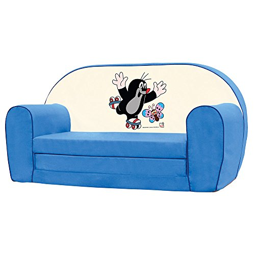 Best Review Of Bino License 13779 Bino Mini Sofa, Colour-Blur, Blue