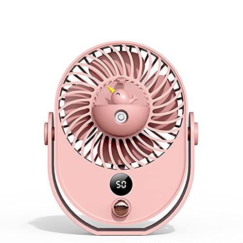 JTQMDD Aire acondicionado personal portátil, ventilador de escritorio, enfriador evaporativo, recargado por USB, para acampar al aire libre, mini humidificador, ventilador de nebulización de aire sile