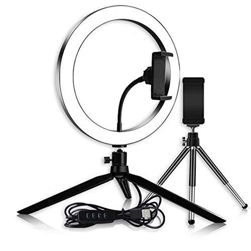 Teléfono Anillo de luz LED Lámpara de Anillo Selfie Novedad novedades Video...