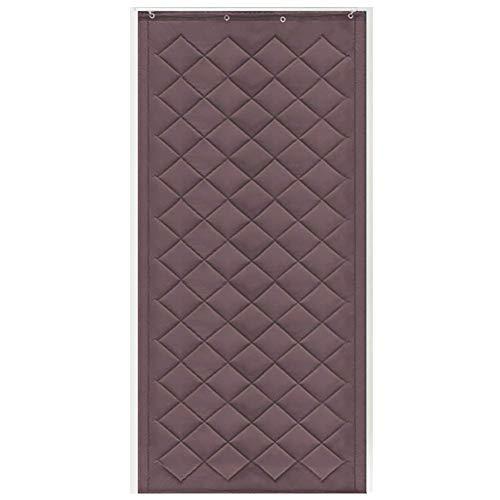 ZXL warmte-isolatie deur gordijn ingang winter winddicht bescherming tegen hitte koud vermindert lawaai (kleur: bruin, maat: 120 cm x 230 cm)