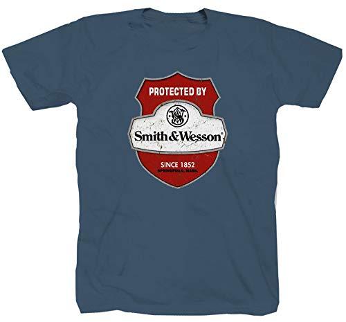 Smith&Wesson Amerika blau T-Shirt , Denim, XL