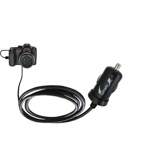 Gomadic Intelligent Compact Car / Auto DC Charger suitable for the Kodak Easyshare Z1015 - 2A / 10W power at half the size. Uses Gomadic TipExchange Technology -  RCC-4588