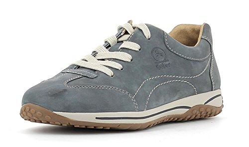 Gabor Damenschuhe 66.385.36 Damen Sneaker, Schnürer, Schnürhalbschuhe, mit Reissverschluss Blau (River), EU 6