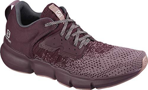 SALOMON Predict SOC W, Zapatillas de Running Mujer, Flint/Wine Tasting/Brick Dust, 36 EU