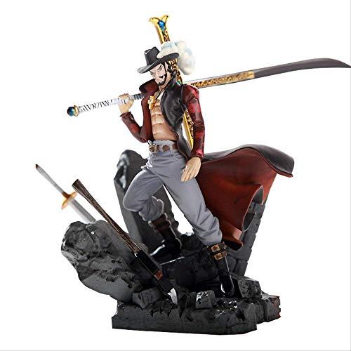 Yangzou Pop One Piece Dracule Mihawk Figura De Accion Gran Evento Hawkeye PVC Anime Figuras Coleccionables Modelo En Caja Juguetes 15 Cm